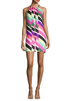 Trina Turk Rancho Halter Silk Shift Dress