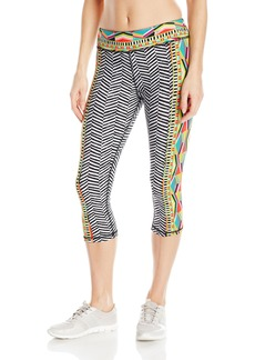 Trina Turk Recreation Women's Geo Engineer Cropped Legging Capri Pant with Aztec Influenced Print  L