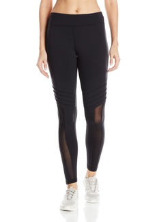 Trina Turk Recreation Women's Geo Knit Solid Inset Top Stitched Full Length Legging  L