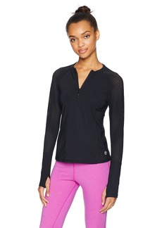 Trina Turk Recreation Women's Half Zip Long Sleeve Active Top