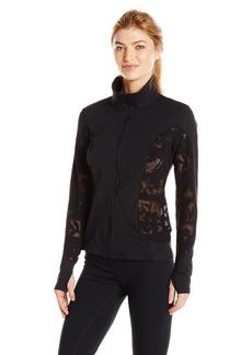 Trina Turk Recreation Women's Lace Shine Zip Front Longsleeve Jacket  M