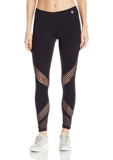 Trina Turk Recreation Women's Laser Cut Solid Full-Length Legging