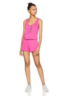 Trina Turk Recreation Women's Lattice Front Romper