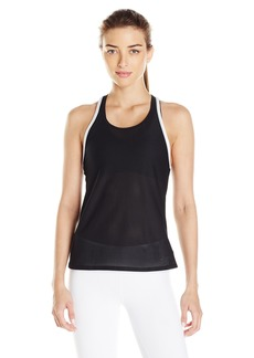 Trina Turk Recreation Women's Lattice Wrap Solid Tank Top  L