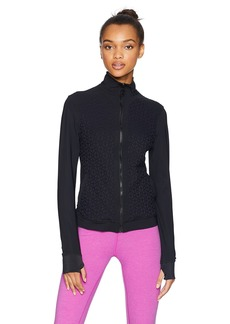 Trina Turk Recreation Women's Plush Jacquard Front Zip Sport Jacket