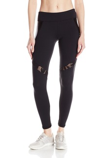 Trina Turk Recreation Women's Shine Full Length Laced Pattern Inset Legging with High Waist Band  XL
