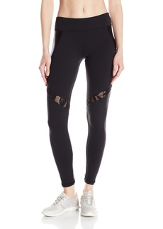 Trina Turk Recreation Women's Shine Full Length Laced Pattern Inset Legging with High Waist Band  M