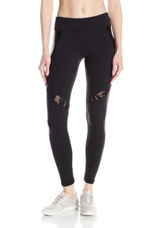 Trina Turk Recreation Women's Shine Full Length Laced Pattern Inset Legging with High Waist Band  XS