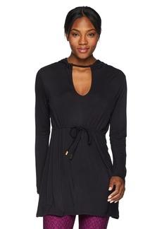 Trina Turk Recreation Women's Soft Knit Longline Hooded Tunic
