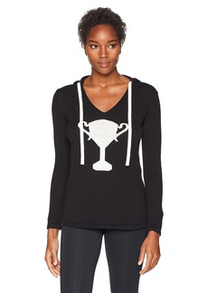 Trina Turk Recreation Women's Top It Off Trophy Wife Hooded Sweater  Extra Small