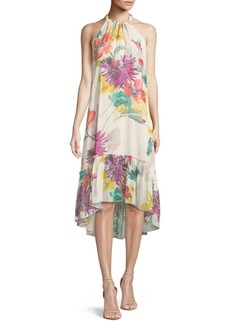 Trina Turk Rosales Splendor in the Garden Sleeveless Silk Dress