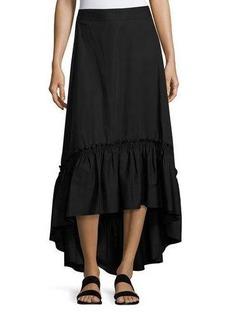 Trina Turk Rosamund Shirred High-Low Maxi Skirt