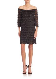 Trina Turk Rosaura Off-The-Shoulder Lace Dress