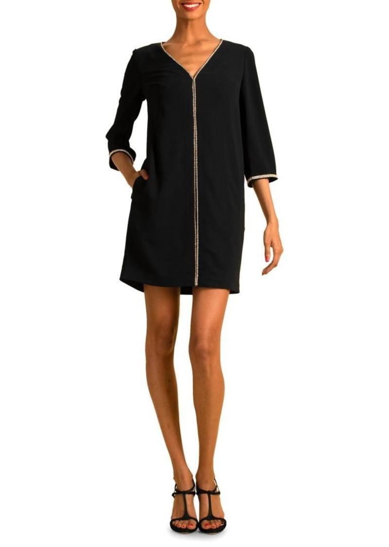 Trina Turk Round Embellished Midnight Dress