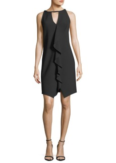 Trina Turk Sleeveless Luxe Drape Keyhole Dress