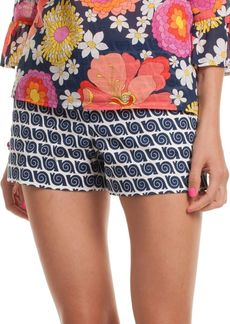 Trina Turk Snails Pace Structured Jacquard Corbin Printed Shorts