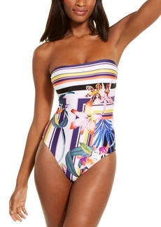 Trina Turk Strapless Floral Print One-Piece Swimsuit Women's Swimsuit