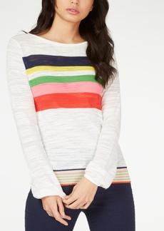 Trina Turk Striped Boat-Neck Sweater
