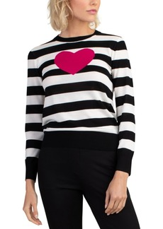 Trina Turk Striped Heart Sweater