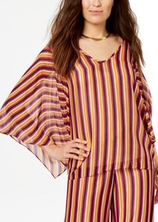 Trina Turk Striped Wide-Sleeve Top