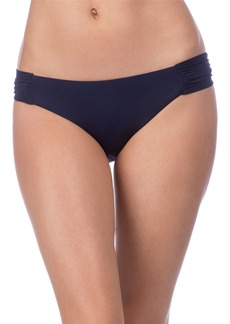 Trina Turk Studio Solids Shirred Tab Side Bikini Bottoms