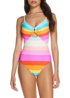Trina Turk Sunrise Stripe One-Piece Swimsuit