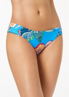 Trina Turk Tahiti Floral-Print Side-Shirred Hipster Bikini Bottoms Women's Swimsuit