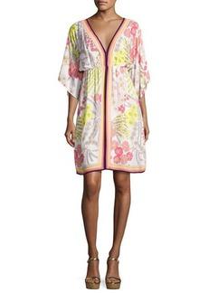 Trina Turk Tamarisk Floral Jersey Blouson Dress