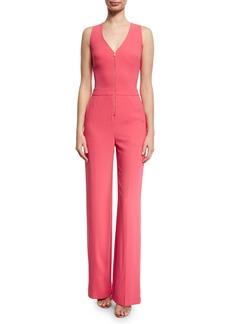 Trina Turk Tamaya 2 Crepe Zip-Front Jumpsuit