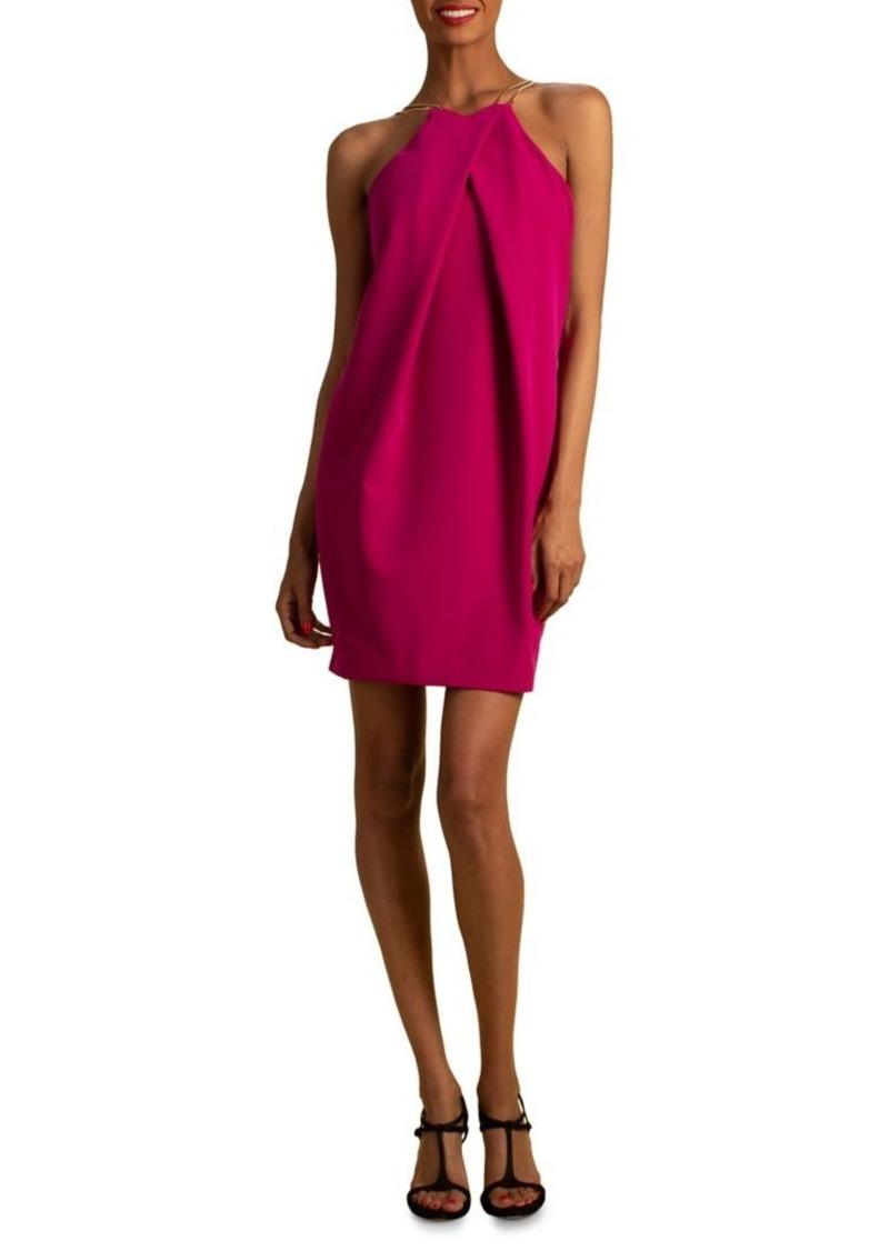Trina Turk Twist-Front Halterneck Mini Dress