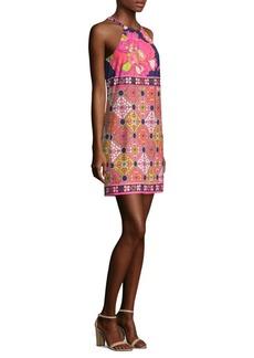 Trina Turk Vacaciones Self-Tie Patterned Dress