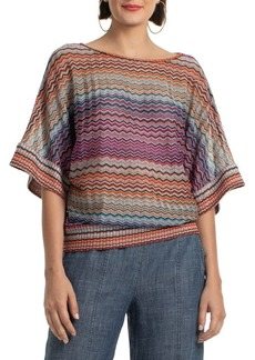Trina Turk Verandahs Raschel Knit Perception Top