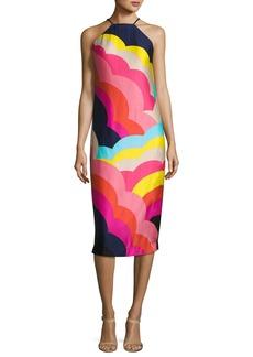 Trina Turk Vina 2 Sleeveless Abstract Satin Midi Dress