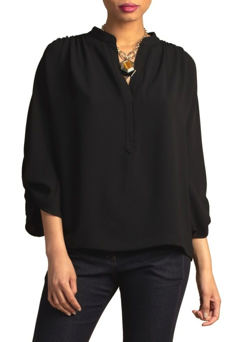 Trina Turk Wine Country Remmel Three-Quarter Sleeve Top