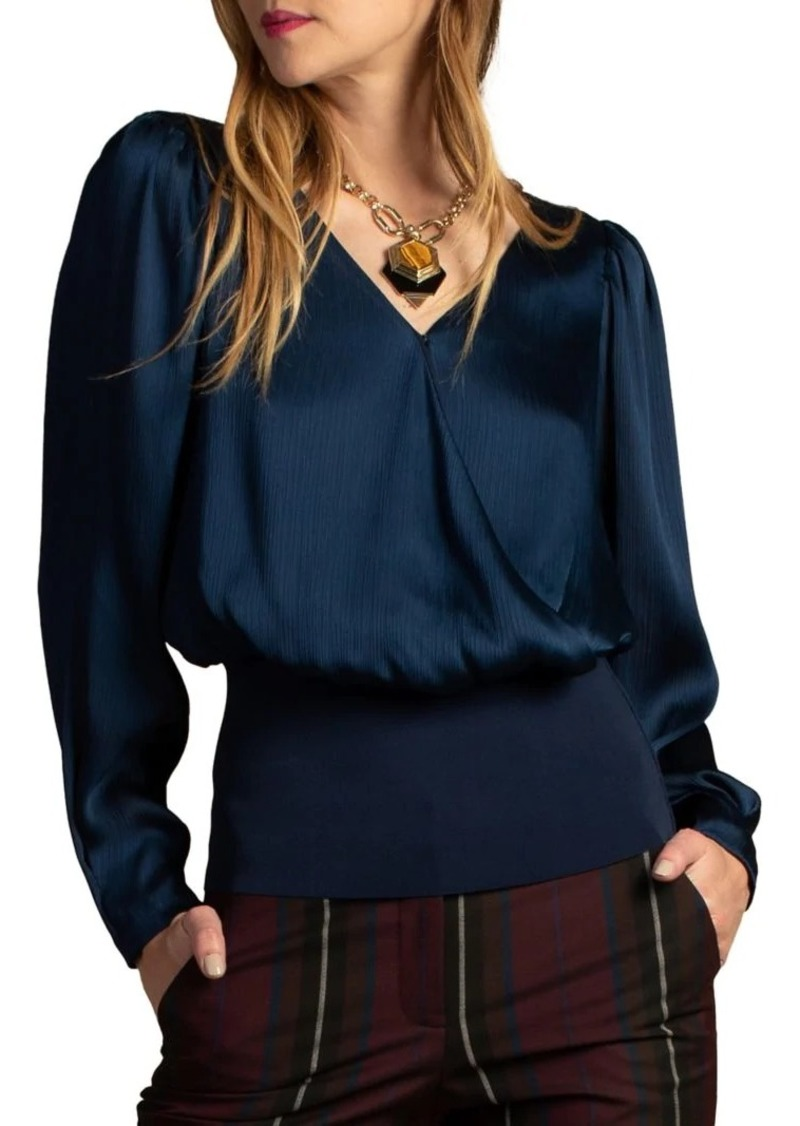 Trina Turk Wine Country Rose Long-Sleeve Top