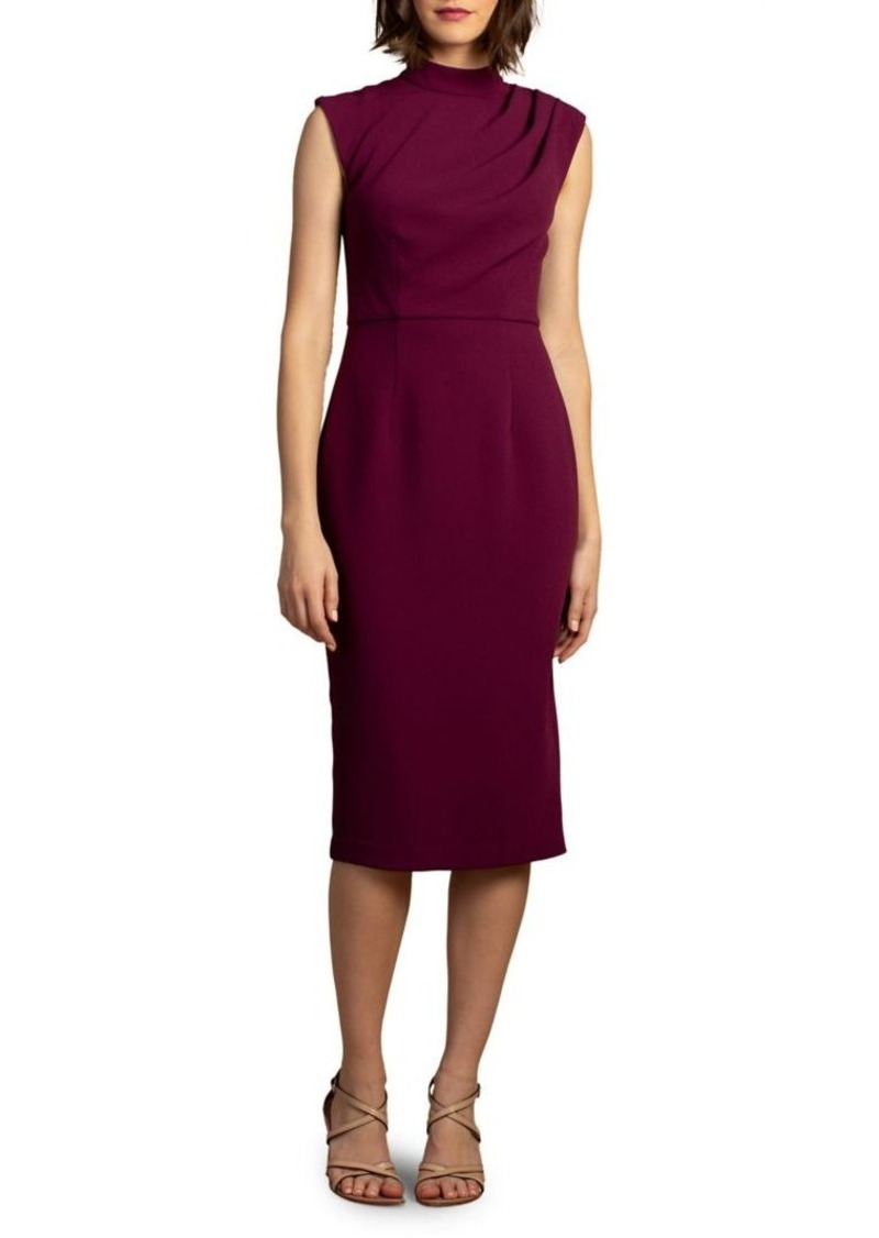 Trina Turk Wine Country Ruched Sheath Dress