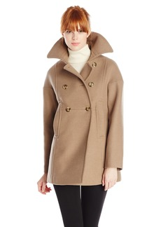 Trina Turk Women's Abigail Double-Breasted Wool Peacoat