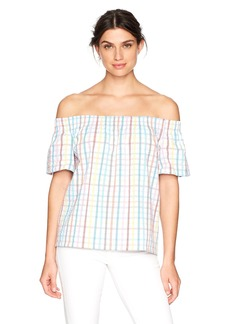 Trina Turk Women's Abilla Off The Shoulder Gingham Top  S