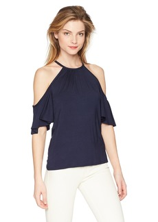 Trina Turk Women's Alhambra Cold Shoulder T Shirt  Extra Small