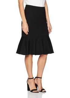 Trina Turk Women's Alina 2 Ponte Drop Flounce Skirt