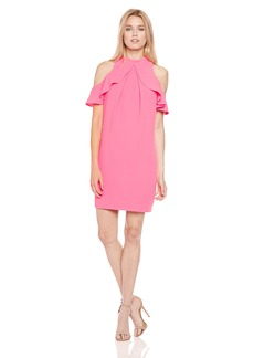 Trina Turk Women's Amado Cold Shoulder Ruffle Dress