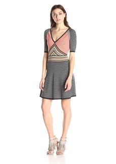 Trina Turk Women's Amur Striped Sweater Dress