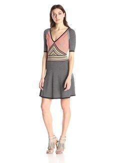 Trina Turk Women's Amur Striped Sweater Dress
