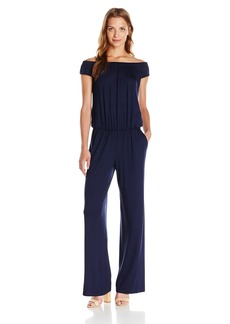 Trina Turk Women's Annalisa Must Have Jersey Off Shoulder Jumpsuit