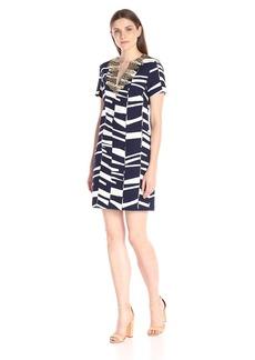 Trina Turk Women's Annamaria Bazaar Abstract Short-Sleeve Dress