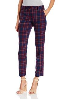 Trina Turk Women's Aubree Modern Tartan Plaid Slim Pant