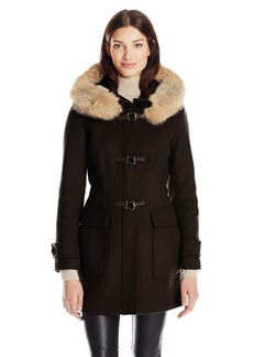 Trina Turk Women's Bailey Lambswool Toggle Coat