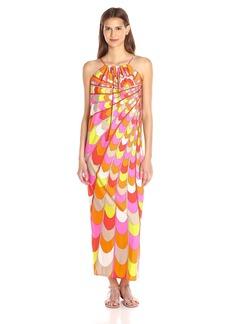 Trina Turk Women's Bennie Waterfall Spray Matte Jersey Maxi Dress