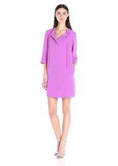 Trina Turk Women's Bertina Carmel Crepe 3/4 Sleeve Dress