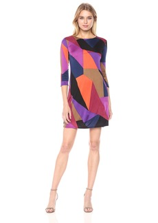 Trina Turk Women's Camellia Long Sleeve Printed Matte Jersey Dress